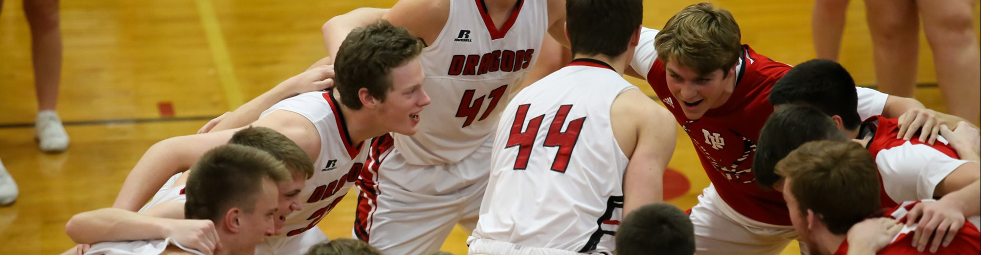 New Palestine High School Boys Basketball team